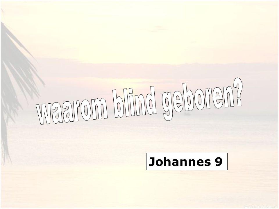 1 En voorbijgaande zag Hij een man, die sedert zijn geboorte blind was. 2