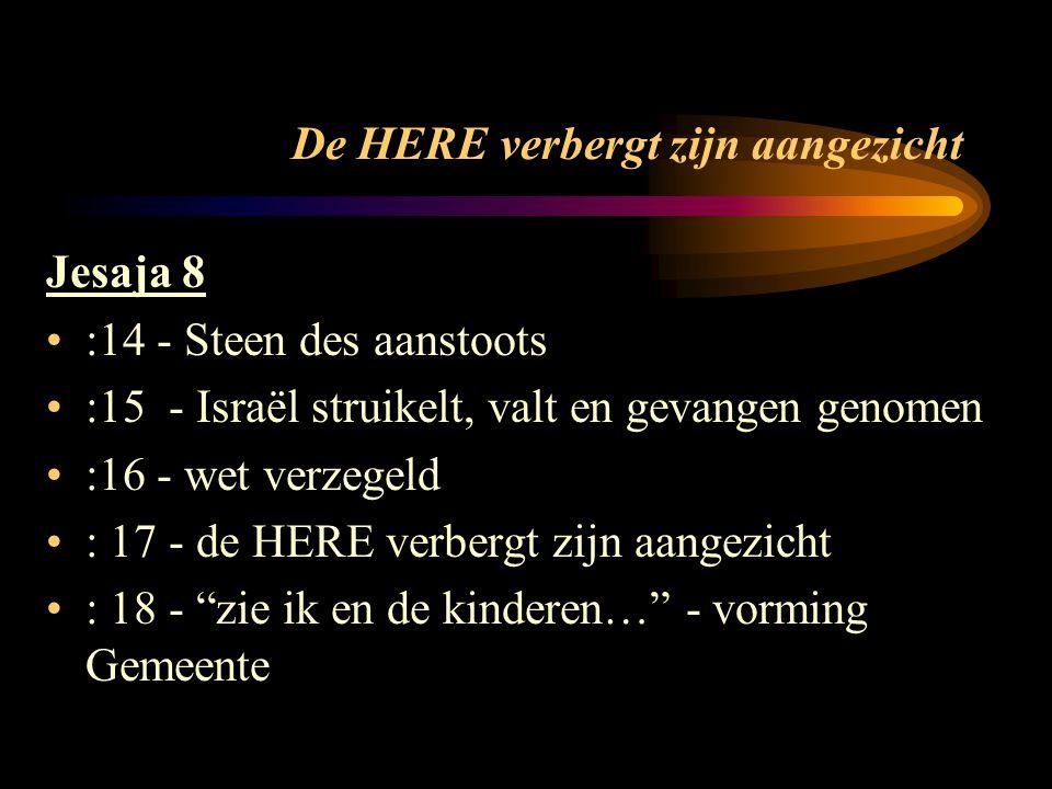 door belachelijke lippen tot dit volk spreken Jesaja 28:9-16 vaste spijs = de verborgen dingen in het OT Israël verstaat het woord niet (wet op wet) Het woord wordt gepredikt door heidenen God plaatst een steen des aanstoots en grondslag voor een nieuwe tempel...
