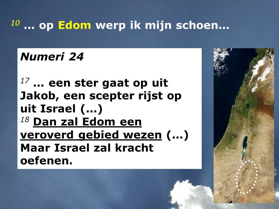 Numeri 24 17... een ster gaat op uit Jakob, een scepter rijst op uit Israel (...) 18 Dan zal Edom een veroverd gebied wezen (...) Maar Israel zal krac