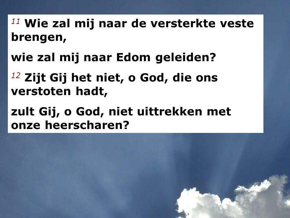 14 Met God zullen wij kloeke daden doen, want Hij zelf zal onze tegenstanders vertreden.