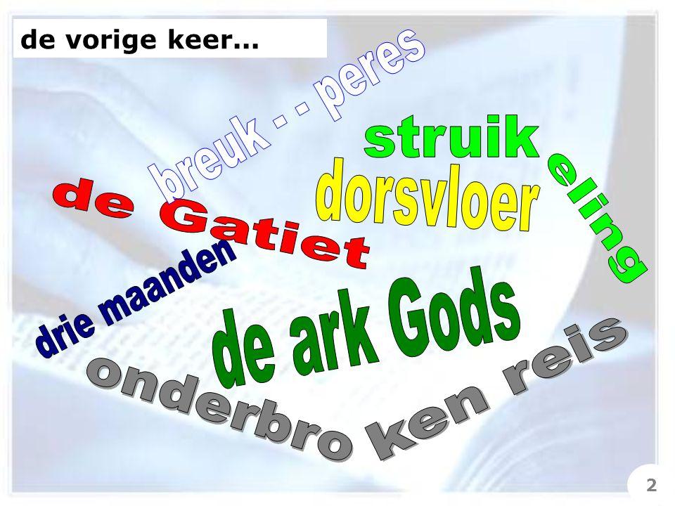 11 En de ark des HEREN bleef drie maanden in het huis van de Gatiet Obed-Edom, en de HERE zegende Obed- Edom en zijn gehele huis.