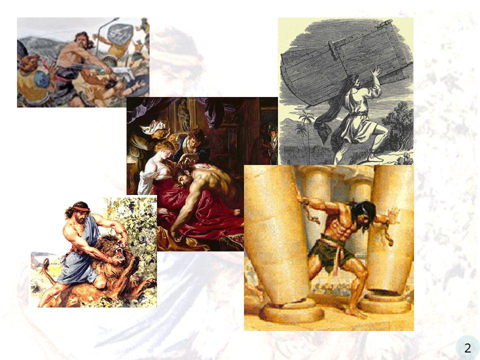 Simson, type van Christus' komst in vernedering Richteren 13 5 Want zie, gij zult zwanger worden en een zoon baren...