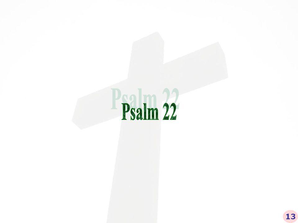 Mijn God, mijn God, waarom hebt Gij mij verlaten… Psalm 22:1 14