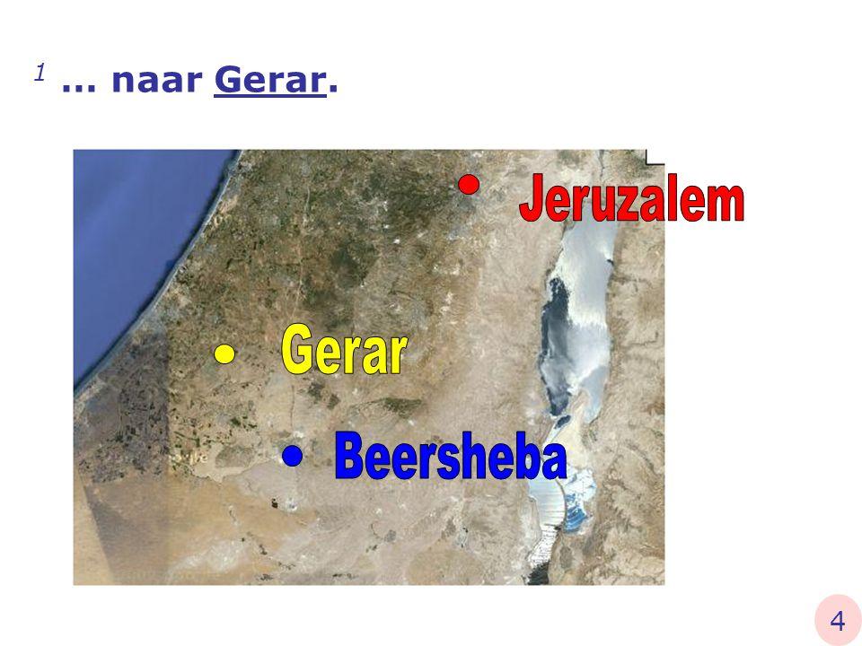 1 Abraham nu brak vandaar op naar het Zuiderland en vestigde zich tussen Kades en Sur, en vertoefde als vreemdeling in Gerar… Genesis 20 betekent: gastverblijf 5