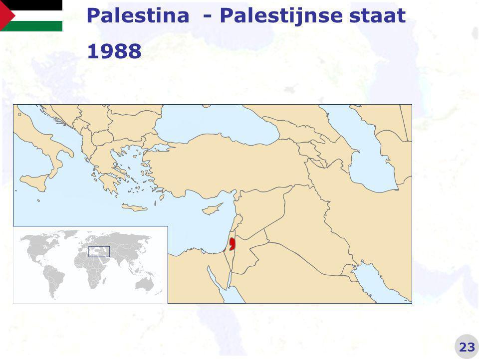 Palestina - Palestijnse staat 1988 23