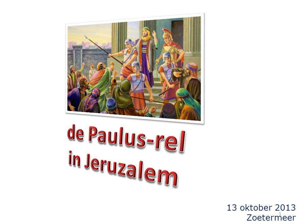 de voorgeschiedenis in Handelingen 21:  Paulus arriveert in Jeruzalem (± 60 AD) 21:17  de ontmoeting met Jakobus e.a.