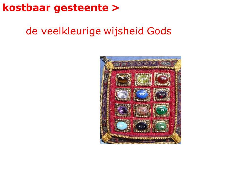 kostbaar gesteente > de veelkleurige wijsheid Gods