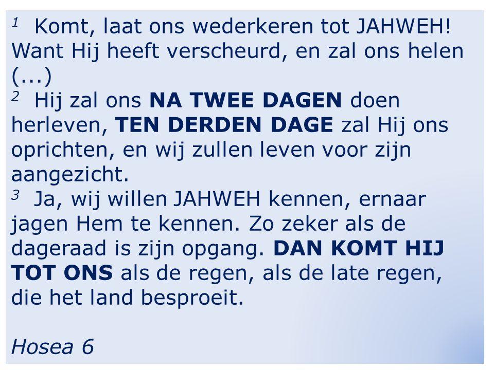 1 Komt, laat ons wederkeren tot JAHWEH.
