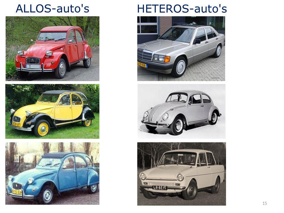 15 ALLOS-auto's HETEROS-auto's
