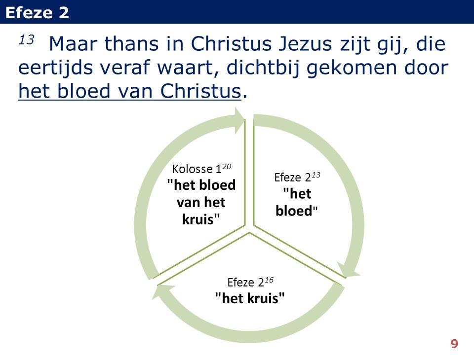 13 Maar thans in Christus Jezus zijt gij, die eertijds veraf waart, dichtbij gekomen door het bloed van Christus.
