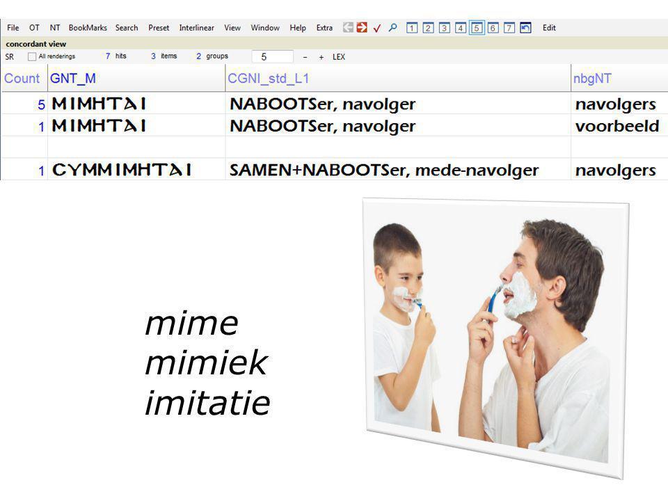 mime mimiek imitatie