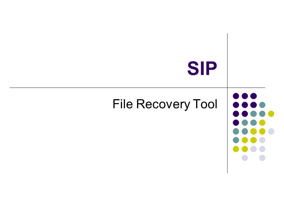SIP File Recovery Tool
