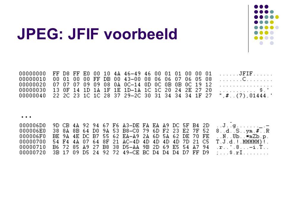 JPEG: JFIF voorbeeld …