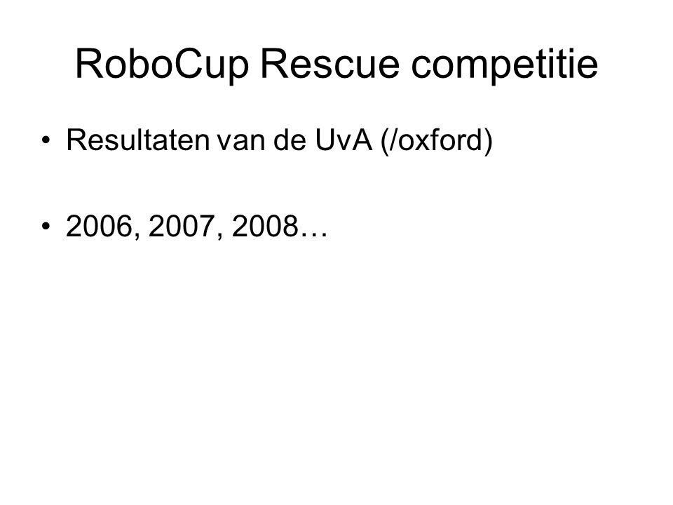 RoboCup Rescue competitie Resultaten van de UvA (/oxford) 2006, 2007, 2008…