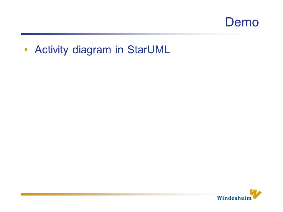Demo Activity diagram in StarUML