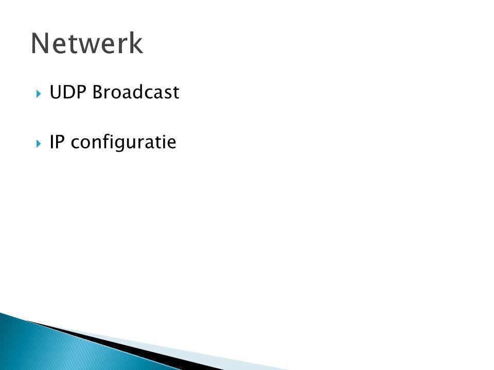  UDP Broadcast  IP configuratie