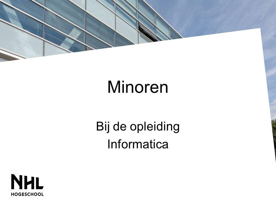Minoren Bij de opleiding Informatica