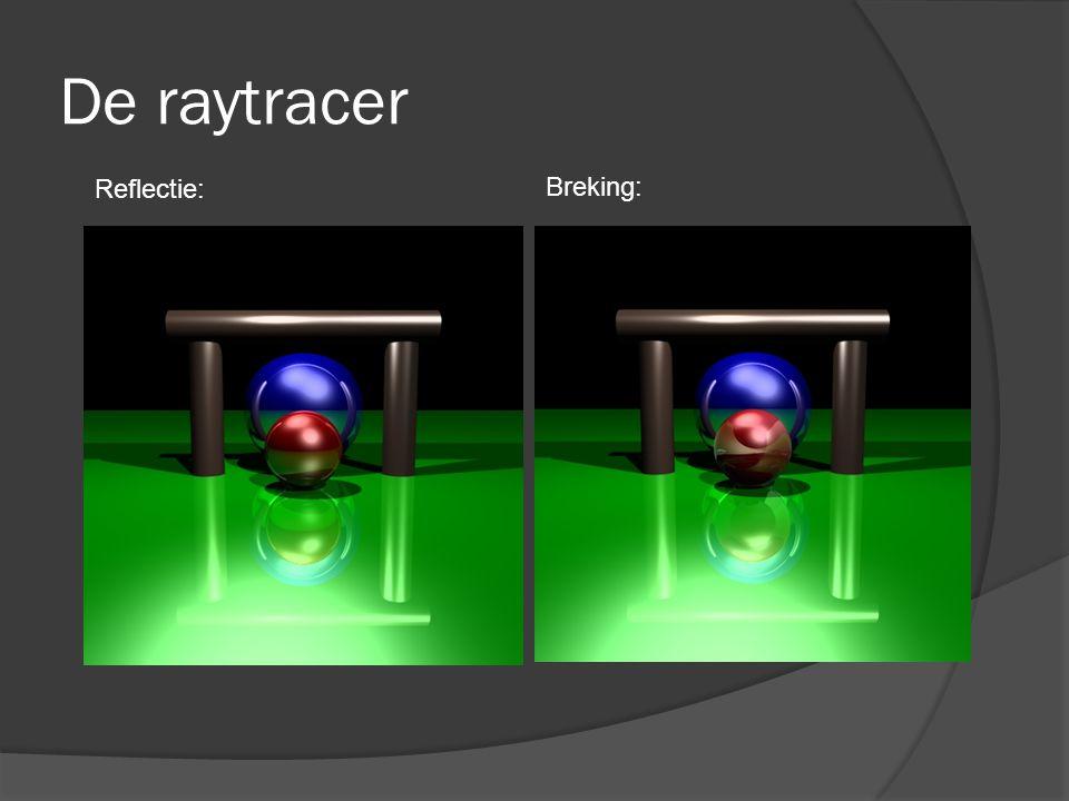 De raytracer Reflectie: Breking: