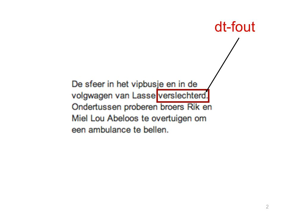 2 dt-fout