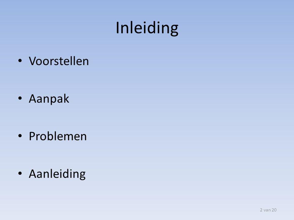 Structuur presentatie Service Catalogus Pakket selectie Inrichten beheerprocessen Navision Adviesrapport rechten 3 van 20