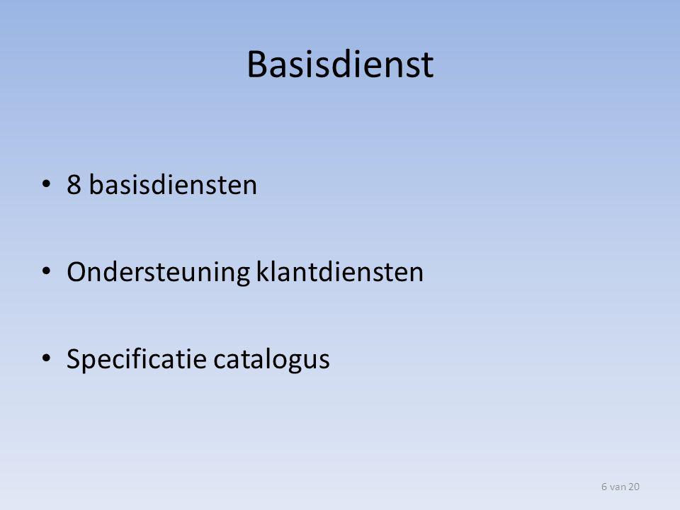 Inrichten beheerprocessen Wijzigingsbeheer – Registeren.