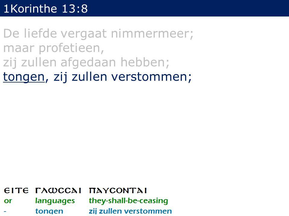 21 In de wet staat geschreven: Door lieden van een andere taal en door lippen van vreemden zal Ik tot DIT VOLK (=Israël) spreken, en toch zullen zij naar Mij niet luisteren, zegt de Here.