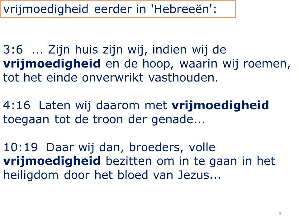 27 Hebreeën 11 3 Door het geloof verstaan wij, dat de wereld door het woord Gods tot stand gebracht is, zodat het zichtbare niet ontstaan is uit het waarneembare.