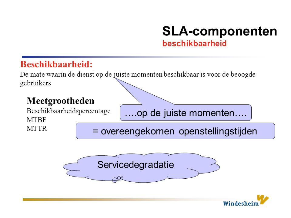 Service specsheet = combinatie servicespecificaties + categorie hoofdbasisdienst + vraagspecificatie
