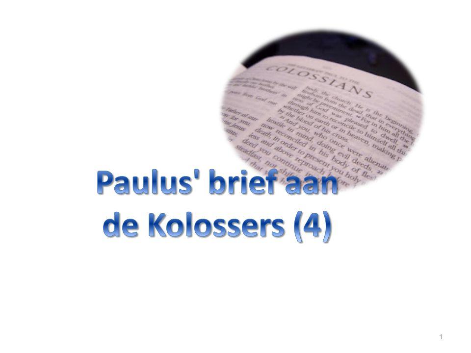 1 Paulus, door de wil van God een apostel van Christus Jezus, en Timoteus onze broeder, 2 aan de heilige en gelovige broeders in Christus te Kolosse: genade en vrede zij u van God, onze Vader.