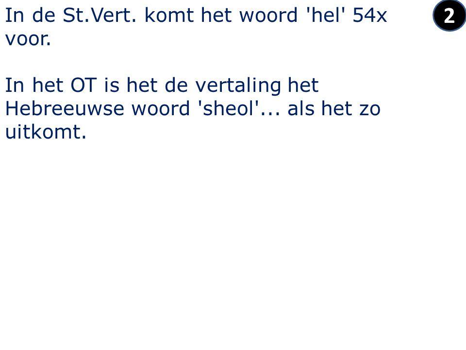 2 In de St.Vert. komt het woord hel 54x voor.
