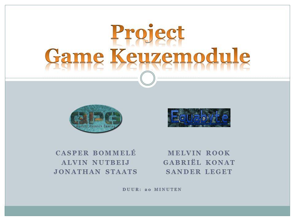 Inleiding (Casper) Projectopdracht (Sander) Game Concept (Jonathan & Melvin) Uitbreidingsmogelijkheden (Alvin & Gabriël) Lesmateriaal (Casper & Sander) Gebruikte middelen (Alvin & Gabriël) Demonstratie Blockbox & Phyzle (Jonathan & Melvin) Afsluiting 7/31/2014 2 Project Game Keuzemodule | QPG & Equabyte