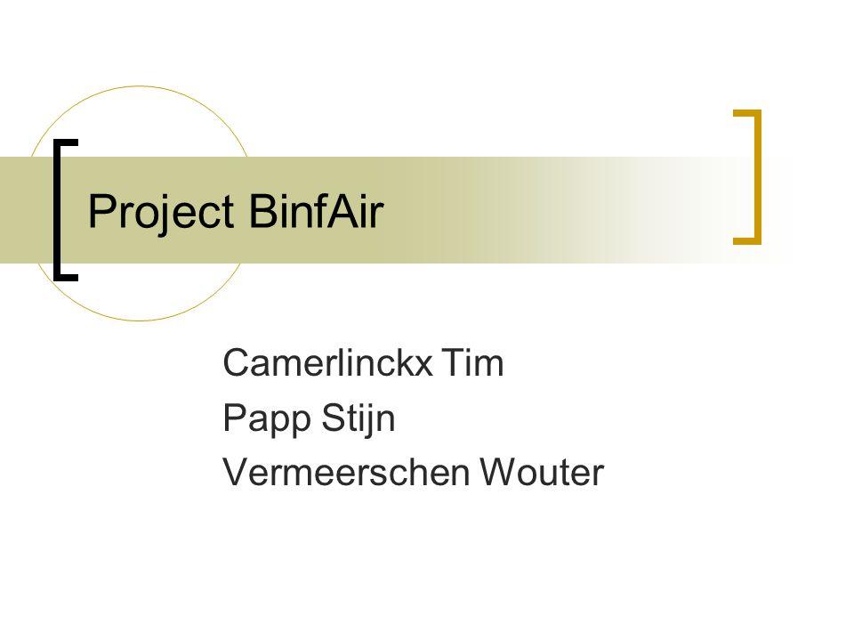Project BinfAir Camerlinckx Tim Papp Stijn Vermeerschen Wouter