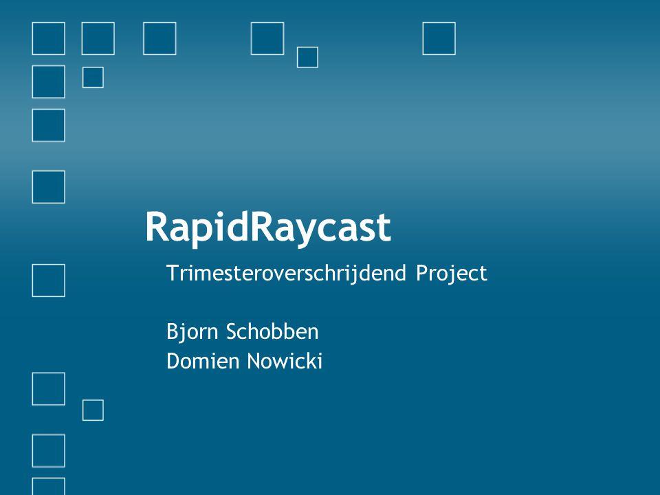 RapidRaycast Trimesteroverschrijdend Project Bjorn Schobben Domien Nowicki