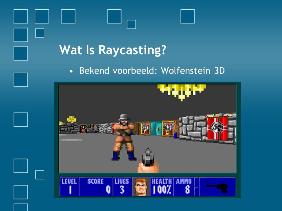 Wat Is Raycasting Bekend voorbeeld: Wolfenstein 3D