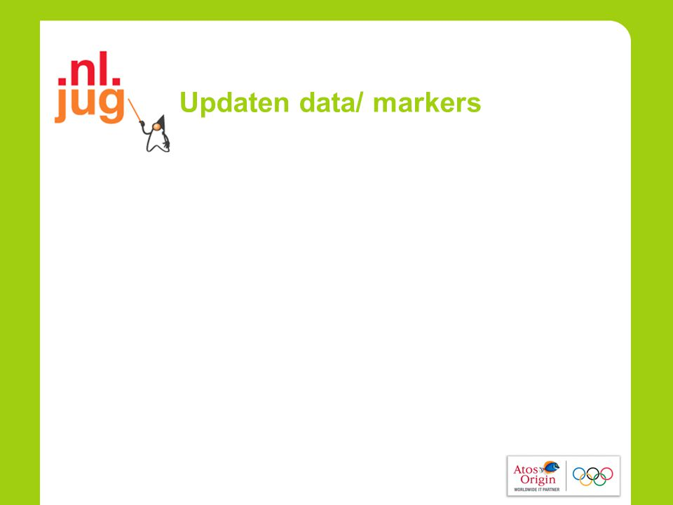 Updaten data/ markers