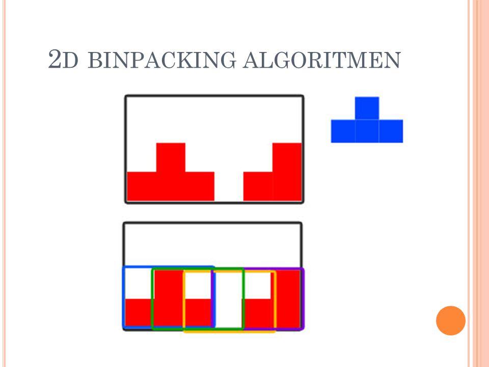 2 D BINPACKING ALGORITMEN