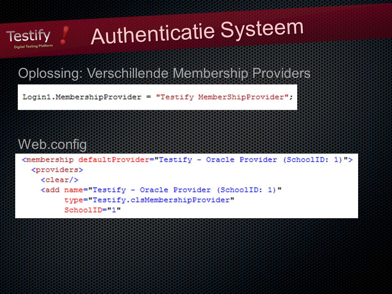 Oplossing: Verschillende Membership Providers Web.config