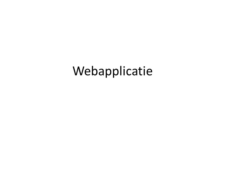 Webapplicatie