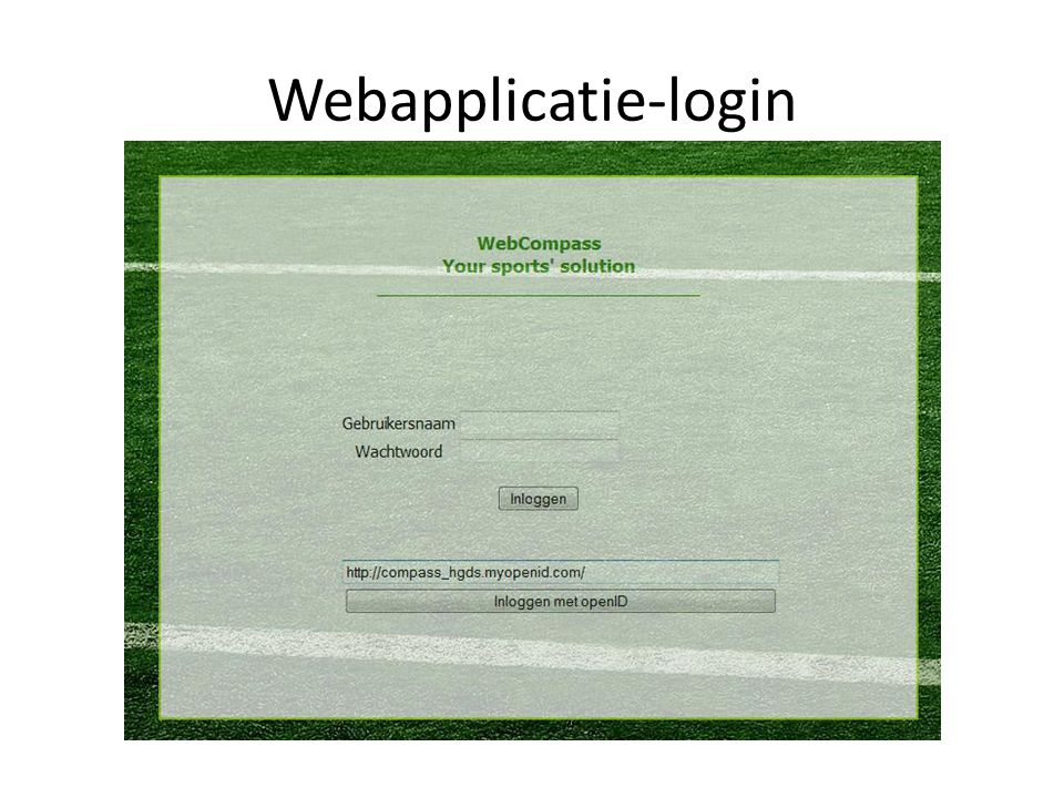 Webapplicatie-login