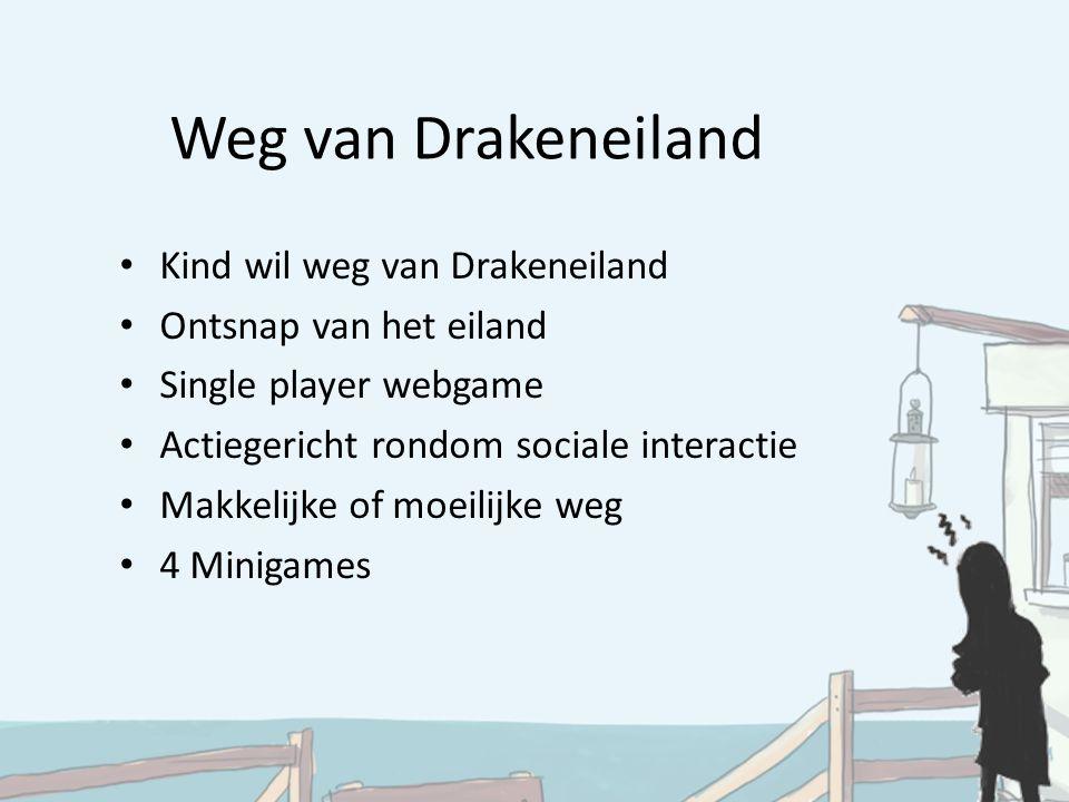 Weg van Drakeneiland Kind wil weg van Drakeneiland Ontsnap van het eiland Single player webgame Actiegericht rondom sociale interactie Makkelijke of m