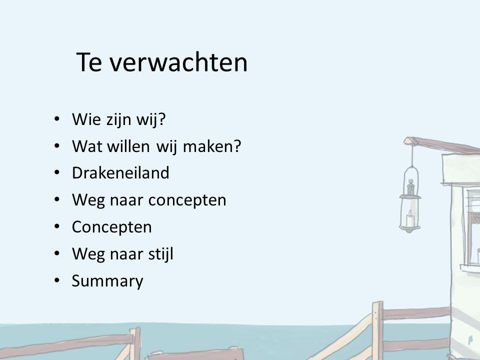Summary Doel Rode draad 3 concepten Parlevinker politiek Weg van Drakeneiland Rollenspel Visuele stijl Kees de Boer ## Disney