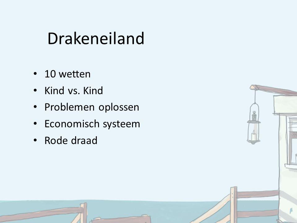Drakeneiland 10 wetten Kind vs. Kind Problemen oplossen Economisch systeem Rode draad