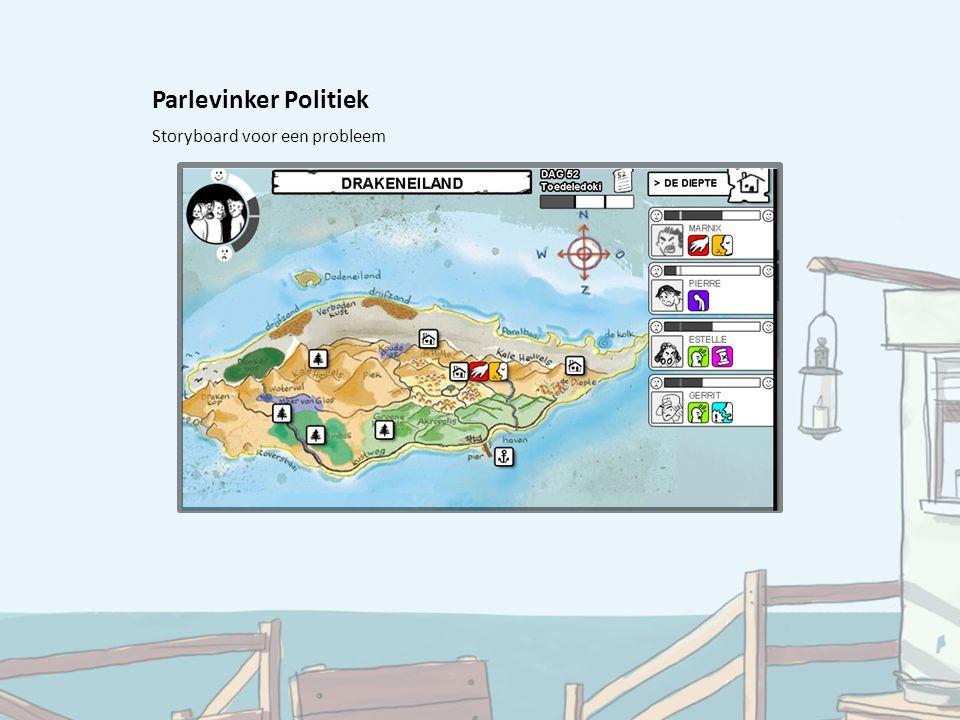 Parlevinker Politiek Storyboard voor een probleem