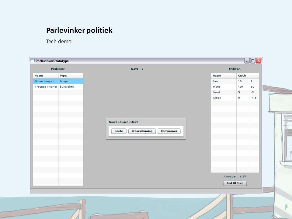 Parlevinker politiek Tech demo