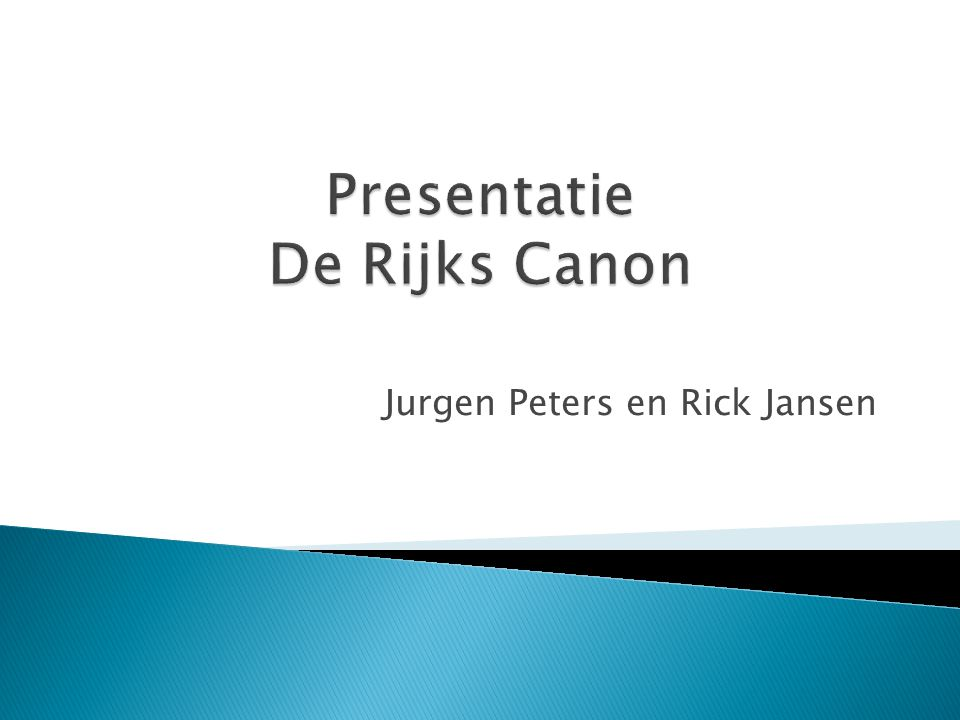 Jurgen Peters en Rick Jansen