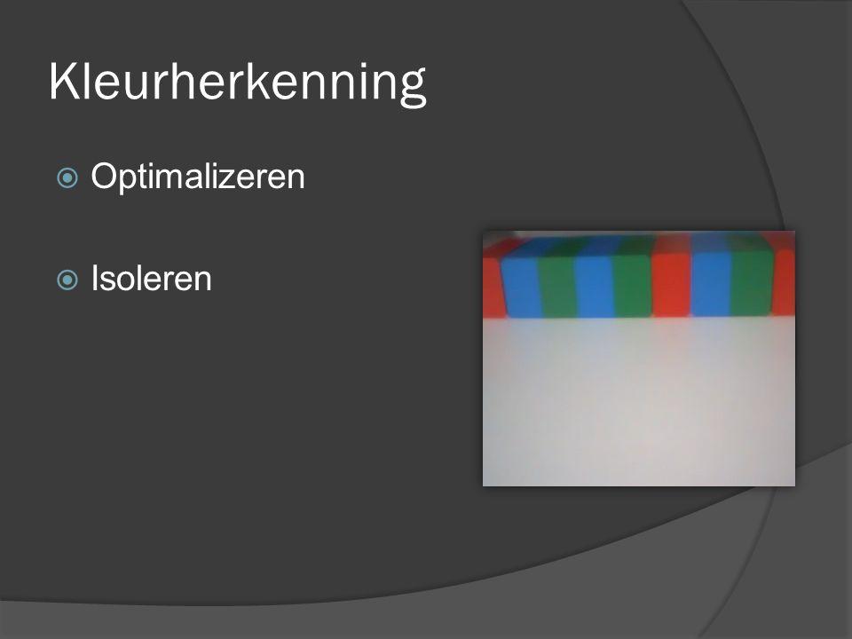 Kleurherkenning  Optimalizeren  Isoleren