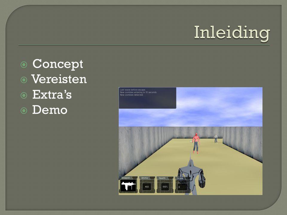  Concept  Vereisten  Extra's  Demo