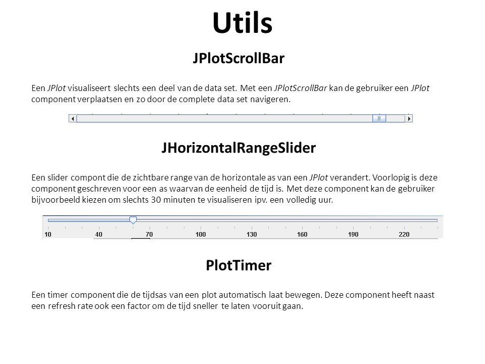 Utils JPlotScrollBar Een JPlot visualiseert slechts een deel van de data set.