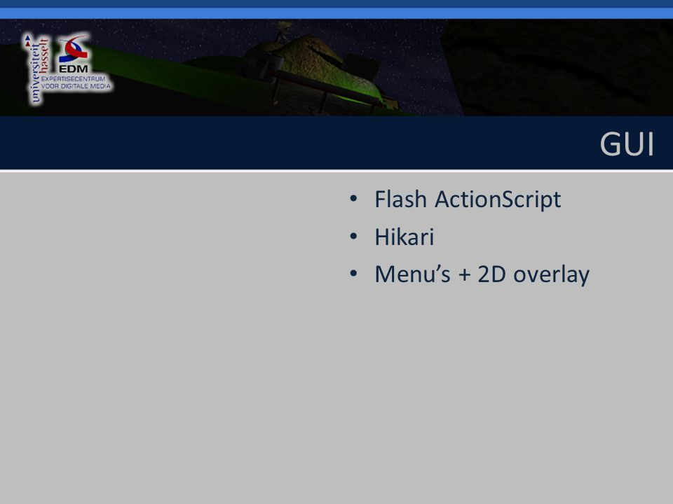 GUI Flash ActionScript Hikari Menu's + 2D overlay