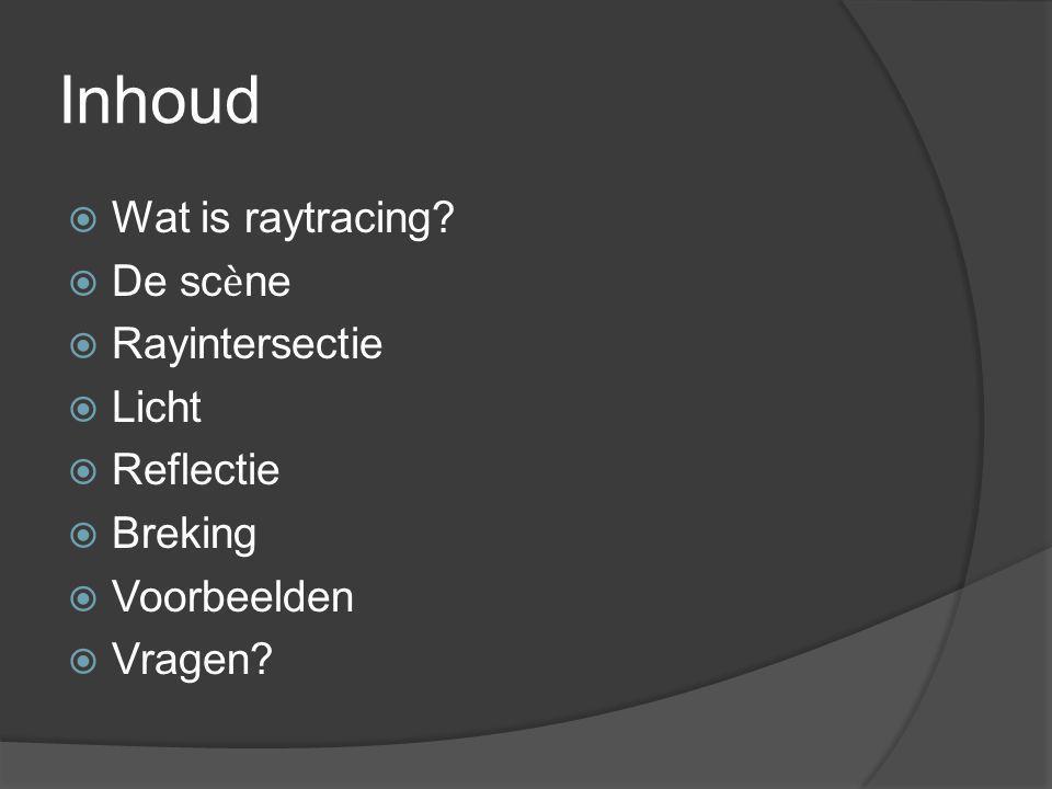 Inhoud  Wat is raytracing.